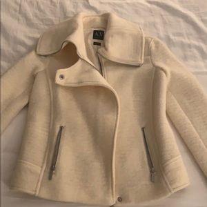 Armani exchange winter white coat